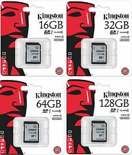 Kingston 16GB 32GB 64GB 128GB Digital SDHC Class 10 UHS-I 45R/100W Flash Memory