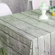 wood grain Cotton &Linen Tablecloth Dining Table Cloth Wood Bark Design for Home
