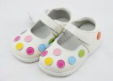 Baby White Leather Mary Jane Shoes.