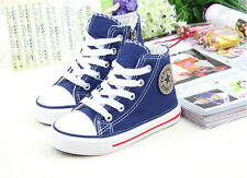 Blue, Canvas Boots for Boys and Girls