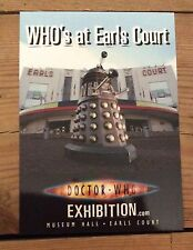 Doctor Who Earls Court Exhibition London (UK) Who's at Earls Court postcard 2007