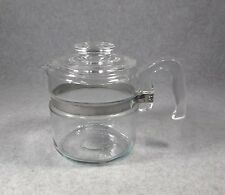 PYREX FLAMEWARE GLASS 4 CUP STOVETOP COFFEE TEA, POT & LID ONLY, #7754-B