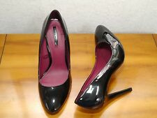 Zara black patent stiletto shoes size 6 1/2
