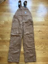 Carhartt Mens Flame Resistant Canvas Bib Overalls work pants trousers 100163 NEW