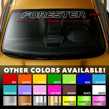 SUBARU FORESTER OUTLINE Windshield Banner Long Lastin Vinyl Decal Sticker 37x4""