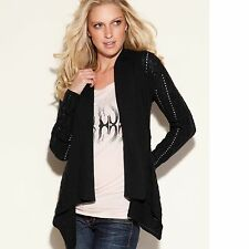 New Guess Women's Long Sleeve Black Layla Cover-up Sweater Sz XS
