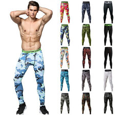 Sports Men Compression Running Yoga Fitness Thermal GYM Tights Pants Camo Style