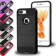 For IPhone 7 Plus Armor Box Metal Shockproof Brushed Hybrid Case Cover Accessory