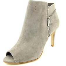 Marc Fisher Serenity Women US 10 W Gray Peep Toe Ankle Boot Blemish 5806