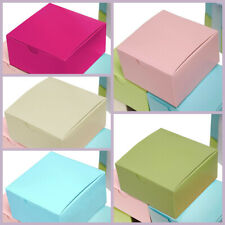 """100 4""""x4""""x2"""" Cake Wedding Party Favors Boxes with Tuck Top Wholesale Supplies"""