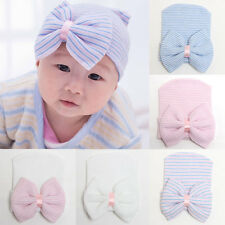 Sweet Newborn Baby Infant Toddler Comfy Bowknot Hospital Cap Beanie Hat