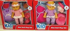 Kid Connection Mini Doll Play Set 8 Or 5 Pieces Ages 2+