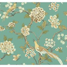 """York Wallcoverings Ashford Toiles Fanciful 27' x 27"""" Floral Roll Wallpaper"""