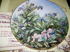 BOXED & WITH CERTIFICATE RARE FORGET-ME-NOT FLOWER FAIRY BY BORDER FINE ARTS