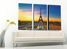 "Eiffel Tower Canvas print, Huge wall art decoration, up to 60""x40"", hang ready"