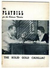 Playbill The Solid Gold Cadillac 1954 Josephine Hull Loring Smith