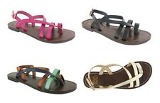 FADED GLORY - Women's Casual Strappy Toe Loop Flats Sandals