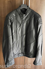 Maison Martin Margiela Men's Leather Jacket - size 50 IT black calf leather