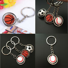 HOT Football Golf ball Baseball Basketball Keychain Key Ring Sport Souvenir CA