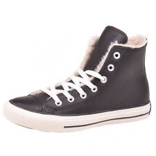 Converse Winter Boat Fur Hi black shoes Chucks Chuck black Leather 132125C