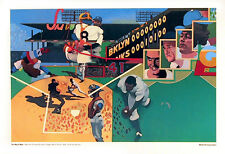 Wilson McLean, NY Yankees/Brooklyn Dodgers World series 1956, Lithograph Poster