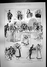 Print Conquerers Play Paul Potter St James Theatre Cloth Gown 1898 252J751