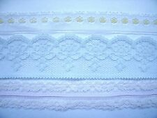 New Choice of Delicate Lace Trims - Scalloped Blue, White/Yellow, or Double Pink
