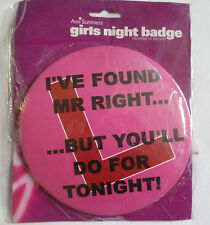 Ann Summers Hen Night Large Funny Badge NEW Bride to be badge