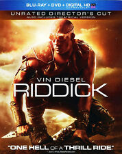 Riddick (2013 Vin Diesel) (2 Disc, With DVD, Directors Cut, Unrated) BLU-RAY NEW