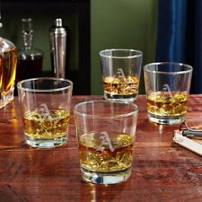 Home Wet Bar Personalized On the Rocks 12 oz. Whiskey Glass Set of 4