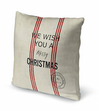 Kavka Wish You a Merry Christmas Throw Pillow