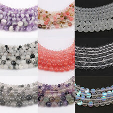 """1Bunch 15"""" Crystal Round Loose Spacer Beads Fit Bracelet Necklace Finding 4-12mm"""