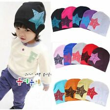 Fashion Kids Toddler Infant Baby Boy Girl Soft Cotton Caps Star Beanies Hats New