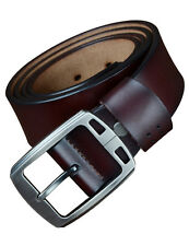 Men's Genuine Cow Leather Belt Pin Buckle Designer Waistband Business Belt