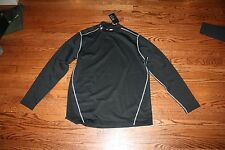 UNDER ARMOUR MEN'S UA BLACK COLD GEAR FITTED COMPRESSION MOCK SHIRT 1248945 001