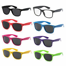 NERD BRAND 80's NEON ALL COLORS Vintage Retro Wayfarer Dark Clear Sunglasses