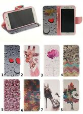 For Samsung Galaxy Phone Cute Patterned Leather Flip Case Wallet Stand TPU Cover