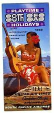 South Seas Holidays Brochure TIKI South Pacific Teal Canadian Pacific Airlines