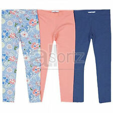 New Girls ex M&S 3 Pair Pack Leggings Casual Smart 5 6 7 8 9 10 11 12 13 14 Year
