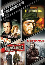 Bridges at Toko Ri / Hell Is for Heroes / Enemy at the Gates / Defiance DVD NEW