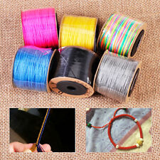 100M Nylon Cord Beading String Thread Rattail Macrame Chinese Knot Braided DIY