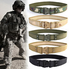 Men's Tan Belt Tactical Canvas Military Tactical Web Belt Military Army Belt