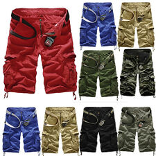 Fashion Men Camo Cargo Sport Shorts Army Military Camo Board Combat Short Bottom