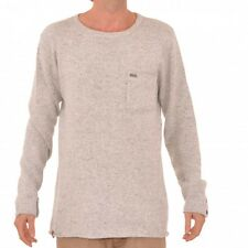 Rip Zeps Crew Knit Sweatshirt Sweater Cement Marle Gray CSWAF1