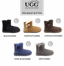 OZLANA Double face Sheepskin Bailey Button water resistant Mini UGG boot