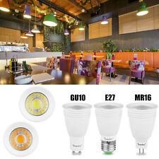 MR16 E27 GU10 5/7/9W Bright COB LED Lamp Dimmable Downlight Globe Bulb Spotlight