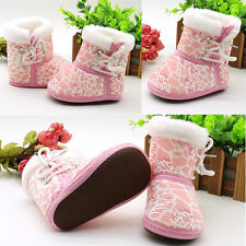 1 Pair Children Sole Soft Fashion Shoes Casual Snow Boots Baby Toddler Infant