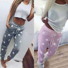Women Fashion Harem Casual Elastic High Waist Full Trousers Loose Long Pants