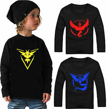 Pokemon Go Toddler Kids Baby Boys Long Sleeve Pullover T-Shirt Tops Sweatshirts