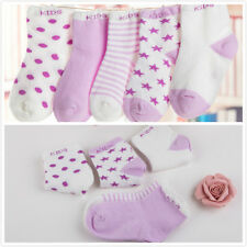 Baby Boy Girl Cartoon Cotton Socks NewBorn Infant Toddler Kids 5 Pairs Soft Sock